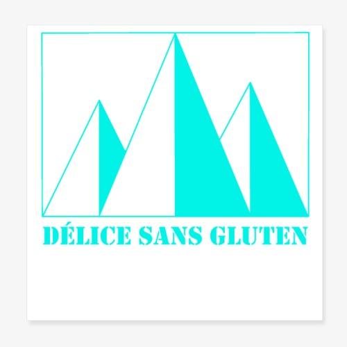 Snow Mountain ! Délice sans gluten - Poster 8 x 8 (20x20 cm)