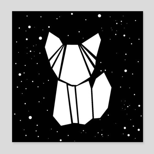 Katze in schwarz weiß - Poster 20x20 cm
