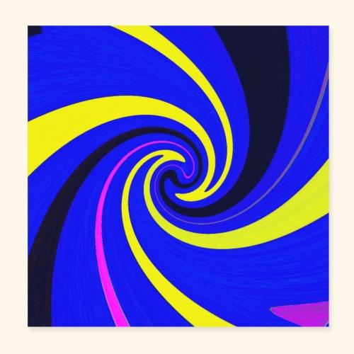 Vortice giallo - Poster 20x20 cm