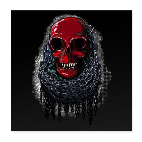 Red Skull Poster 1: 1 - Poster 8 x 8 (20x20 cm)