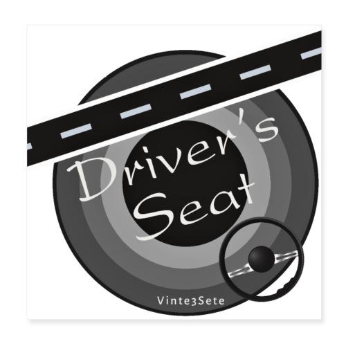 Driversseat - Fahrersitz - Autostoel - Poster 20x20 cm