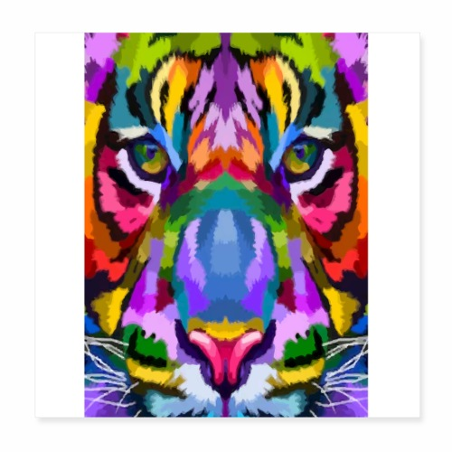 lion colors - Poster 20 x 20 cm