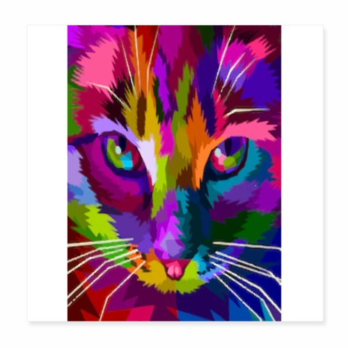 cat colors - Poster 20 x 20 cm