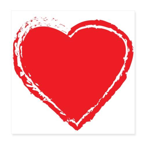 Hearts Love - Póster 20x20 cm