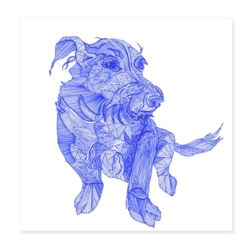 Das ist wohl ein chinesischer Drachen - Hund - Poster 20x20 cm