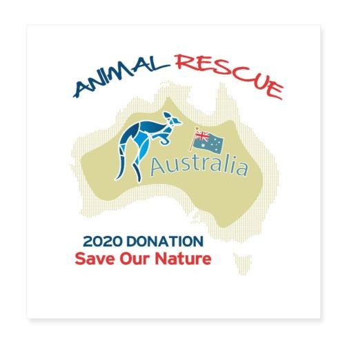 Australien - Spendenaktion - Animal Rescue - Poster 20x20 cm