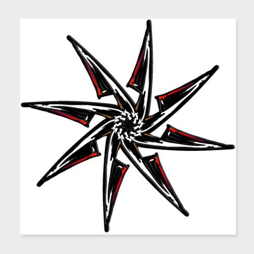 estrella chaos RyN - Póster 20x20 cm