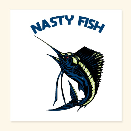 Nasty Fish - Voilier - Poster 20 x 20 cm
