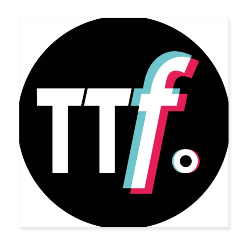 ttf logo - Poster 20x20 cm