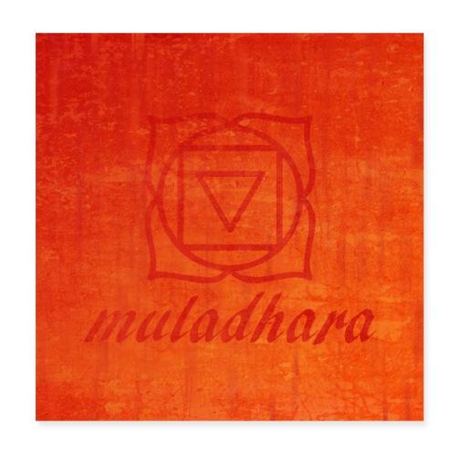 poster muladhara chakra hindu tantrism India yoga - Poster 20x20 cm