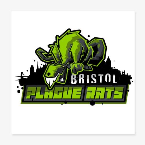 Bristol Plague Rats - Poster 8 x 8 (20x20 cm)