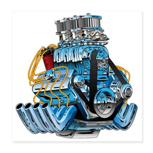 Motor - Poster 20x20 cm