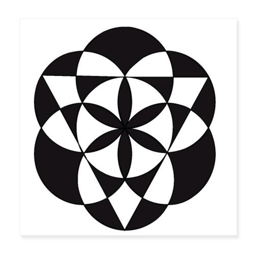diseño de figuras geométricas - Póster 20x20 cm