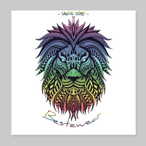 #Bestewear Color Lion - Poster 20x20 cm