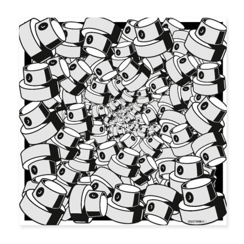 geometric graffiti fap caps square print ver 0.1. - Poster 20x20 cm