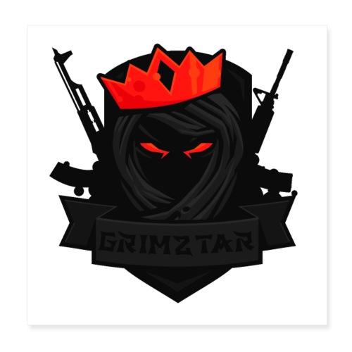Grimztar Logo - Poster 20x20 cm