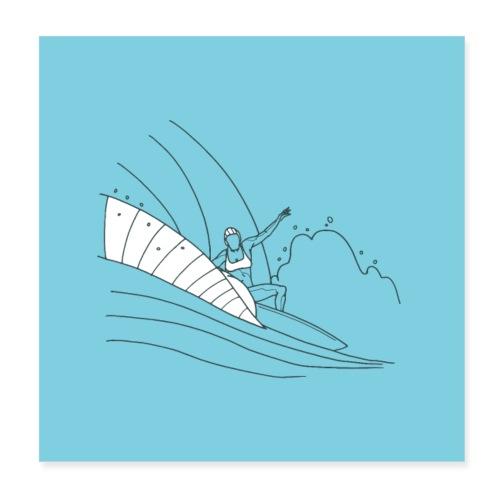Surfer girl - Poster 20 x 20 cm
