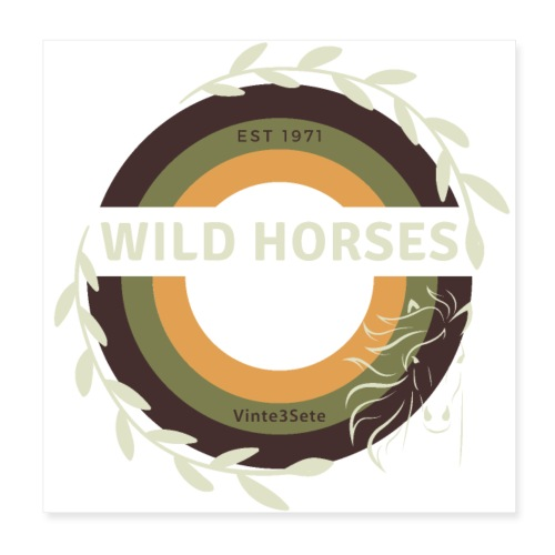 Wild Horses - Poster 20x20 cm