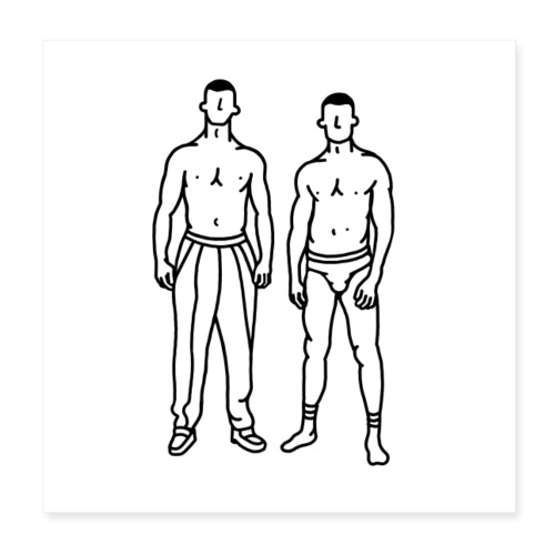 Boys - Poster 20 x 20 cm