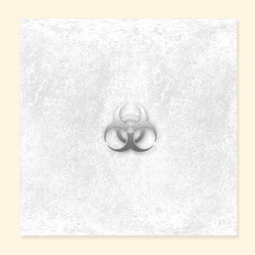 Biogefährdung Piktogramm in grau - Poster 20x20 cm