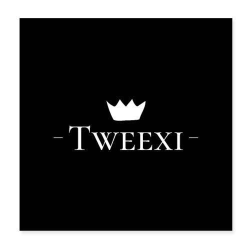 Tweexi logo - Poster 20x20 cm
