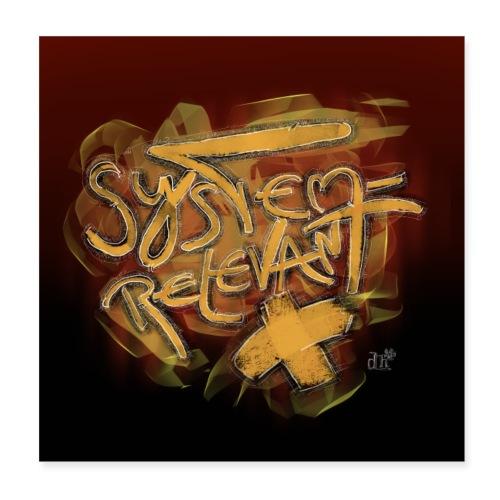 Maske Design Systemrelevant - Poster 20x20 cm
