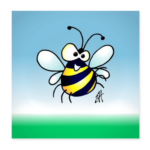 Bee - Poster 8 x 8 (20x20 cm)
