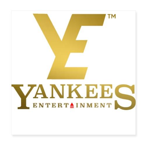 YE Logo Gold - Poster 8 x 8 (20x20 cm)