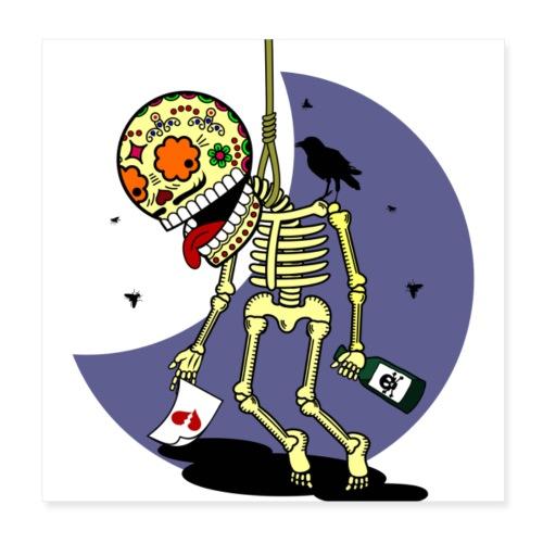 Skalle skull death s head 9 - Poster 20x20 cm