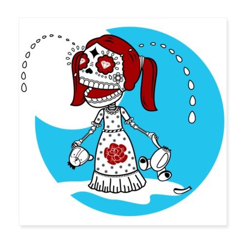 Skalle skull death s head - Poster 20x20 cm