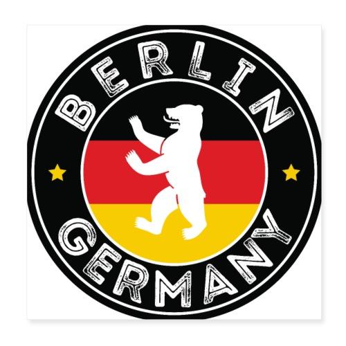 00110 Berlín oso bandera Alemania - Póster 20x20 cm