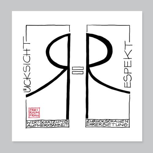 Respekt - Poster 20x20 cm