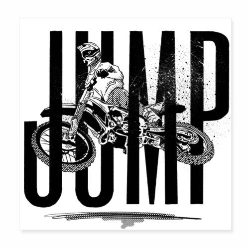 Jump Motorbike | Sprung Motorrad | Motorcross Bike - Poster 20x20 cm
