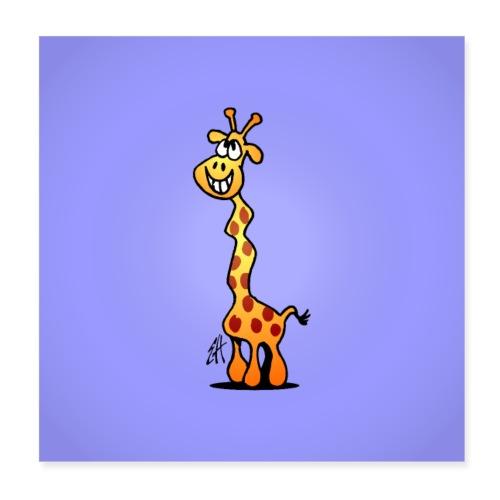 Giggling giraffe - Poster 8 x 8 (20x20 cm)
