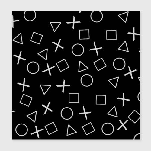 Videogiocatore nero - Poster 20x20 cm