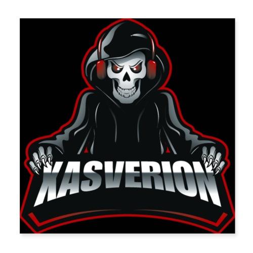 Xasverion Logo (Black) - Poster 20x20 cm