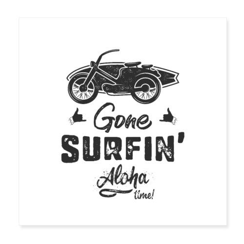 Gone Surfing Black - Poster 20x20 cm