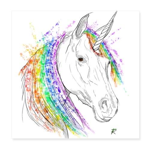 Unicorno - Poster 20x20 cm