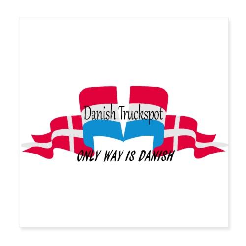 Danish Truckspot poster - Poster 20x20 cm