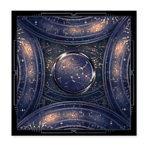 Galaxy universe abstract blue starry sky - Poster 8 x 8 (20x20 cm)