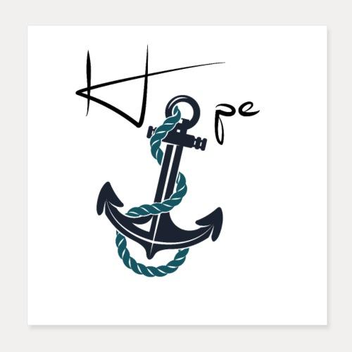 Hope - Poster 20x20 cm