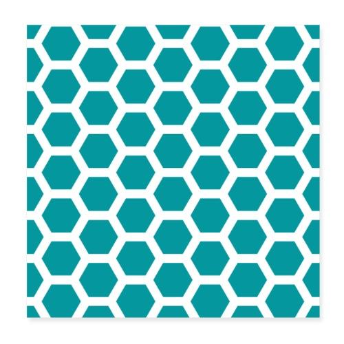 Geometric Turquoise - Poster 8 x 8 (20x20 cm)