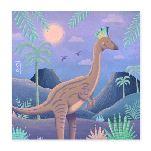 Dinosaurier - Poster 20x20 cm