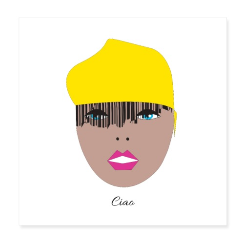 Yellow lady 1 1 - Poster 20x20 cm