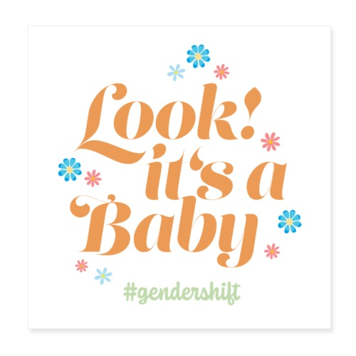 Look! It's a Baby. - Poster 20x20 cm