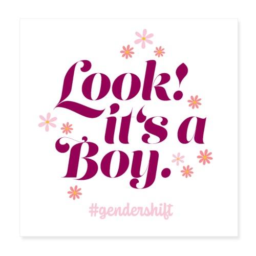Look! It's a Boy. - Poster 20x20 cm