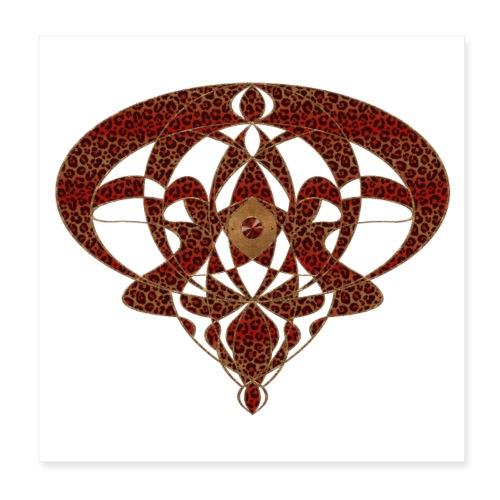 Art Nouveau Art Deco Art Nouveau Vintage Art Gold - Poster 8 x 8 (20x20 cm)