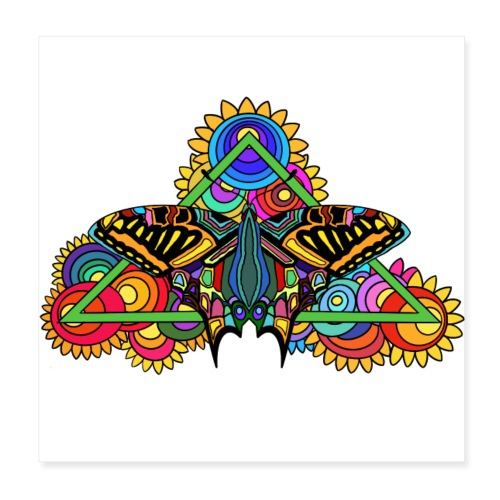 Happy Butterfly! - Poster 20x20 cm