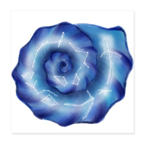 Galaktische Spiralenmuschel! - Poster 20x20 cm