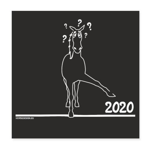 2020 Pferd Comic - Poster 20x20 cm